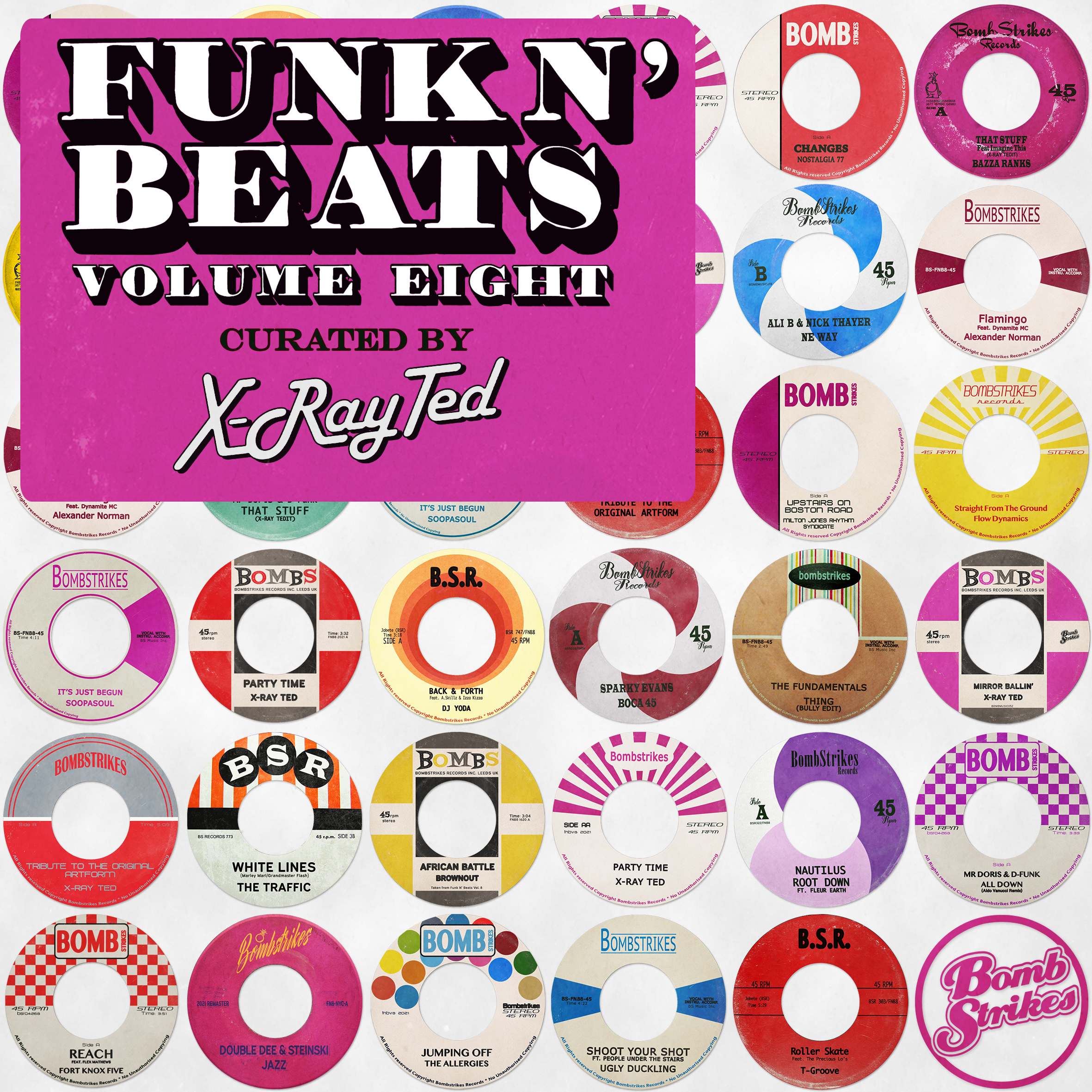 Funk N' Beats Vol. 8 (Curated by X-Ray Ted) Image