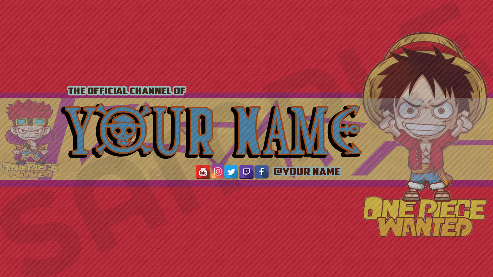 Free One Piece Youtube Channel Art By Ajmgamergirl Free
