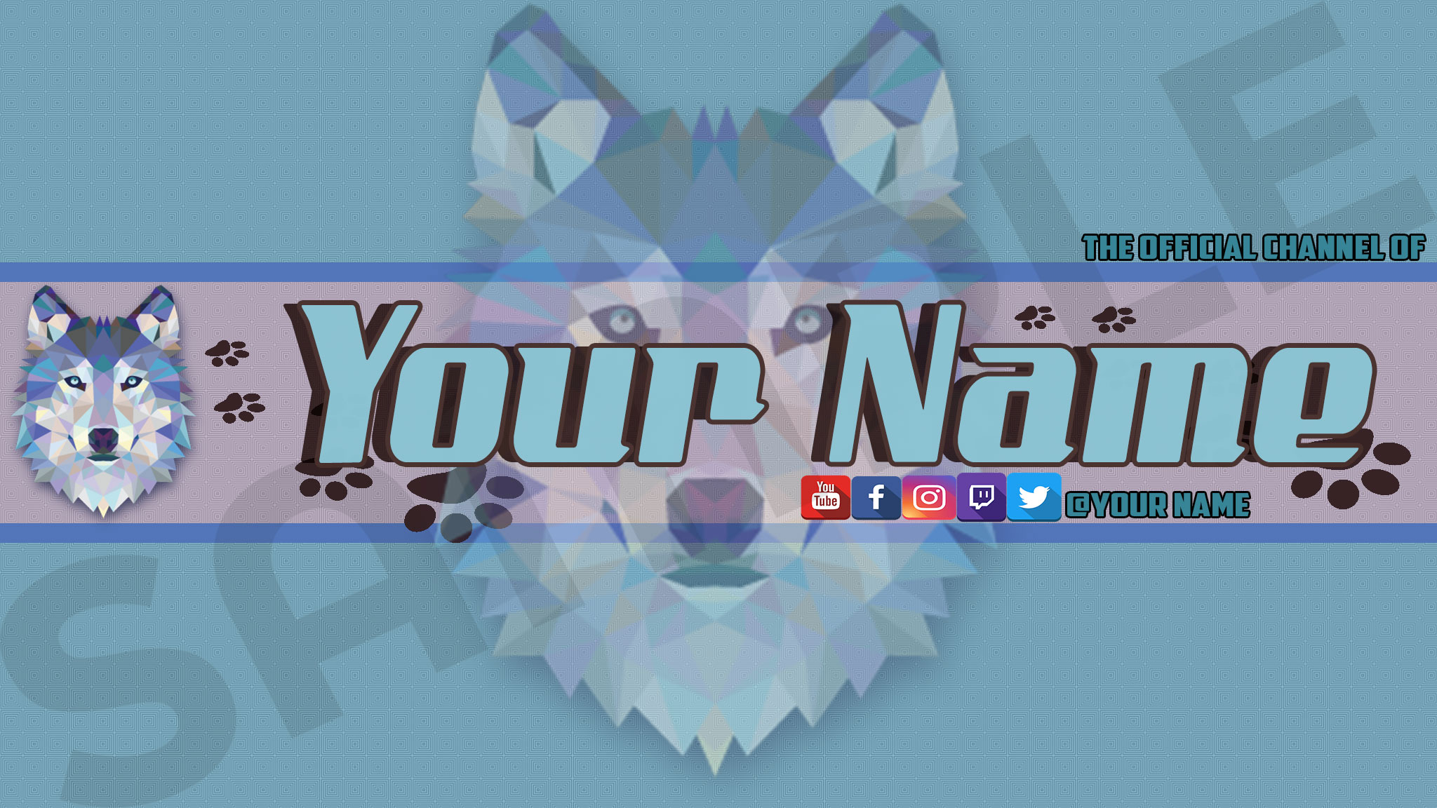free wolf youtube channel art by ajmgamergirl free download on toneden