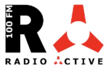 Radio-Active 100.FM Logo