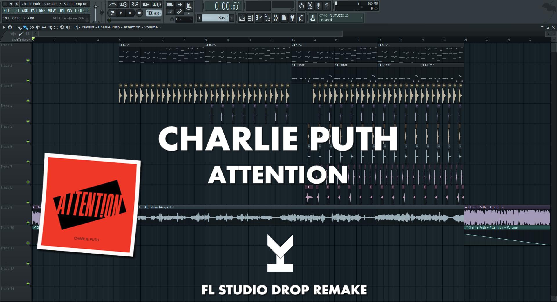 Charlie Puth - Attention (FL Studio Drop Remake + Free FLP