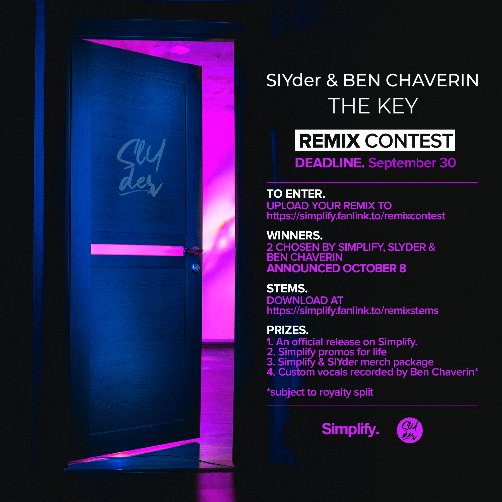 """SlYder & Ben Chaverin - """"The Key"""" Remix Contest by Simplify Records"""