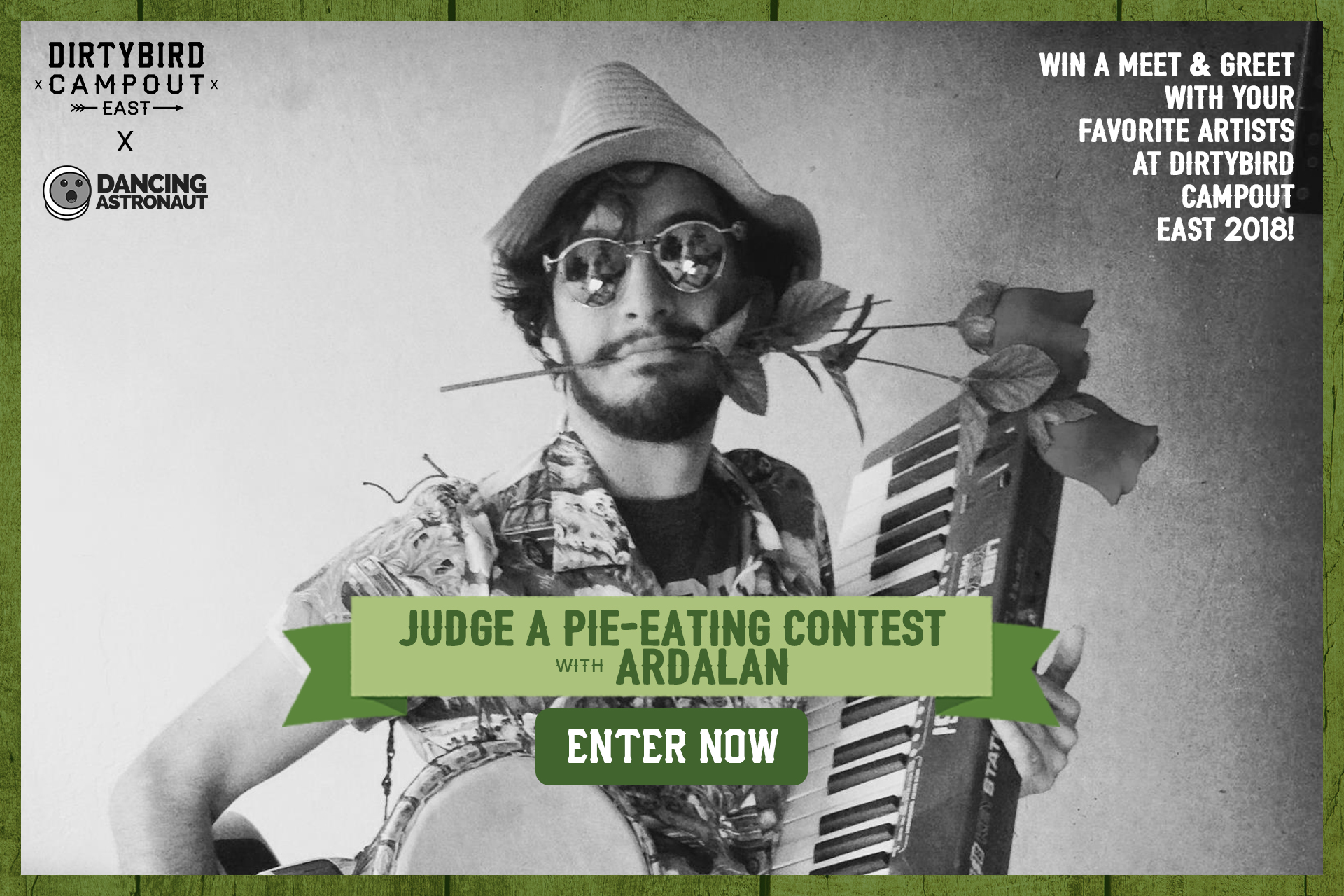 Enter to judge a pie eating with ardalan dancing astronaut win a chance to judge a pie eating contest with ardalan at dirtybird campout east coast 2018 kristyandbryce Gallery
