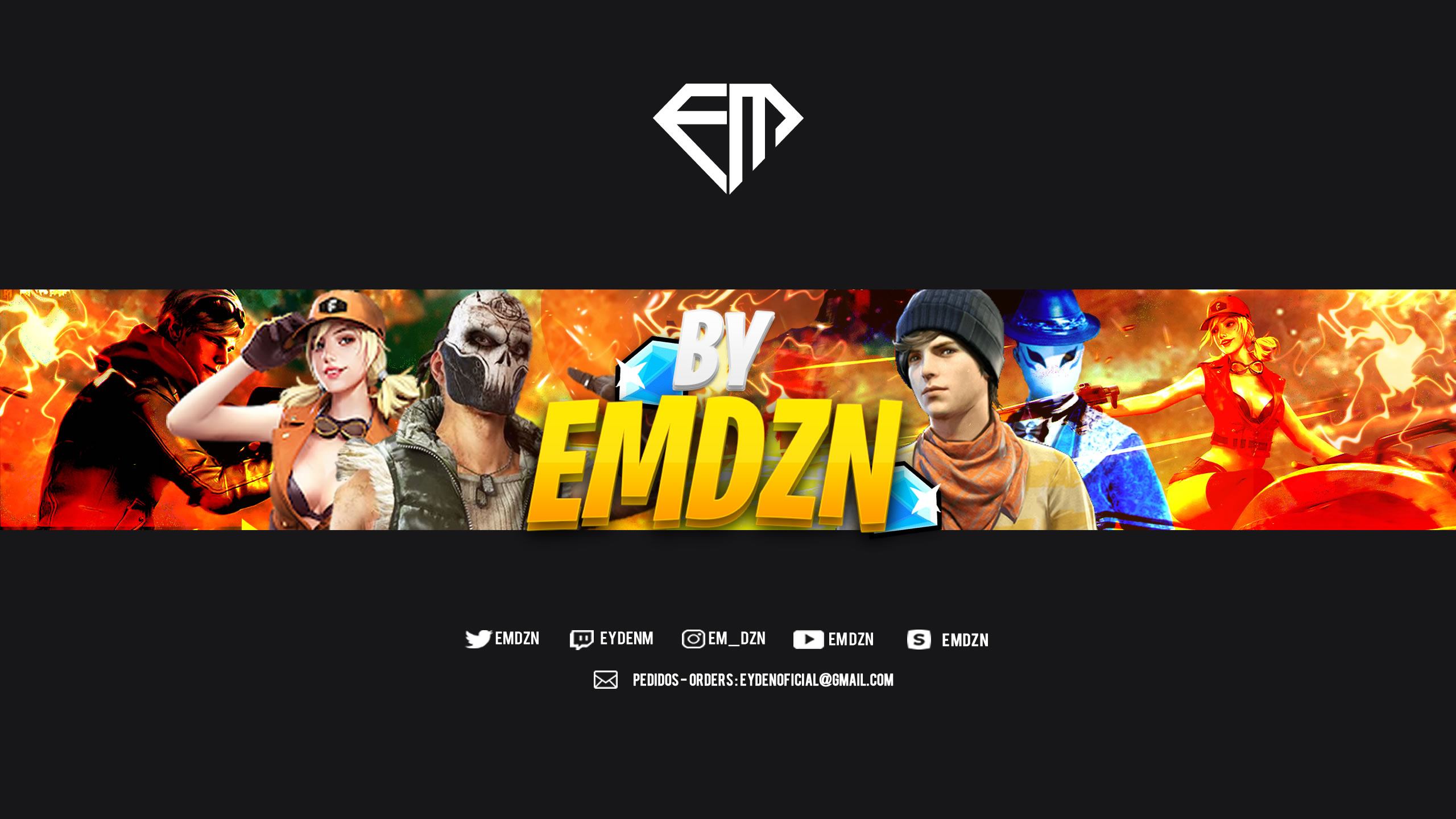 Banner Free Fire Template Editable By Emdzn By Https Www Youtube Com Channel Ucccq9g9ihk4gskzf3eegt0w Free Download On Toneden