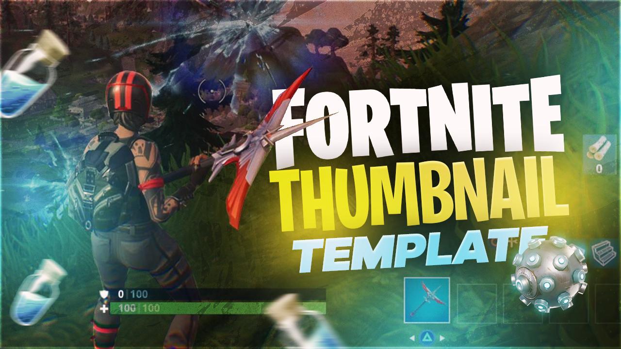Fortnite Thumbnail Template FREE by WoahFusion - Free