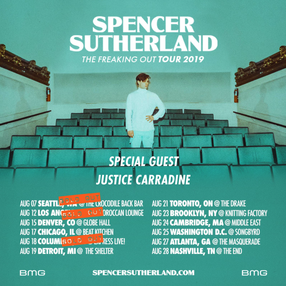 Spencer Sutherland's The Freaking Out Tour Sweepstakes