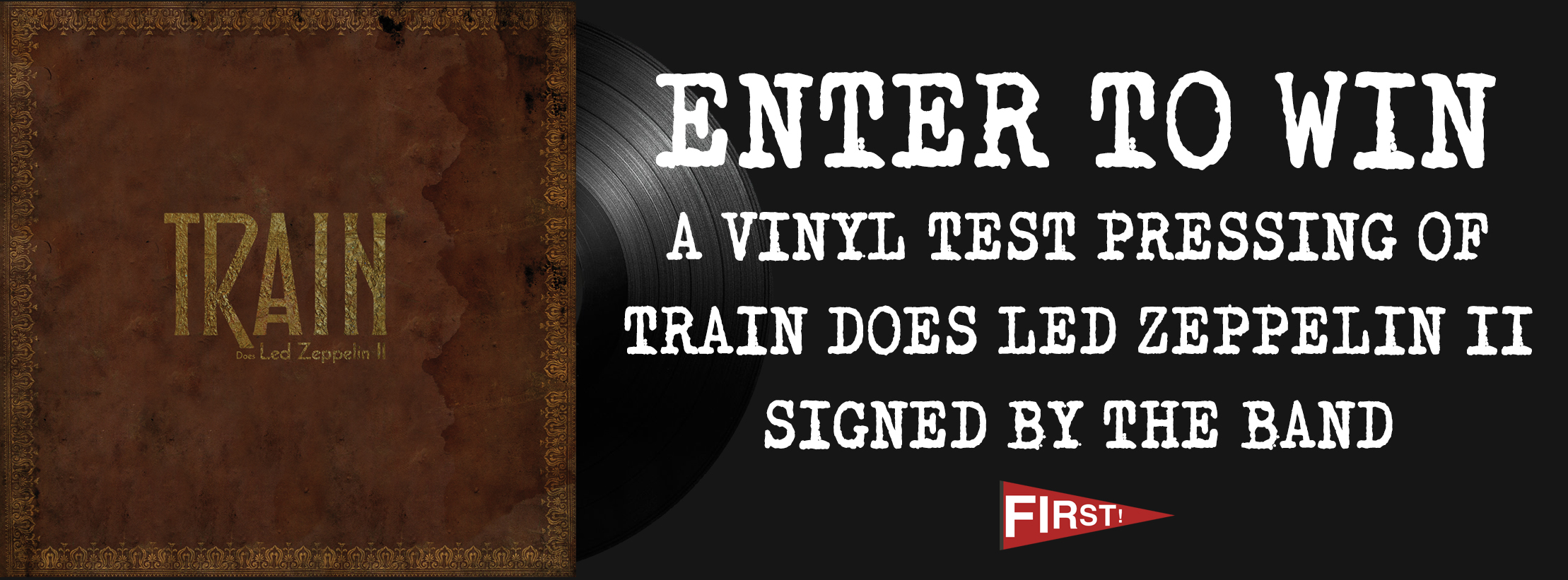 win a signed vinyl test pressing of train does led zeppelin ii