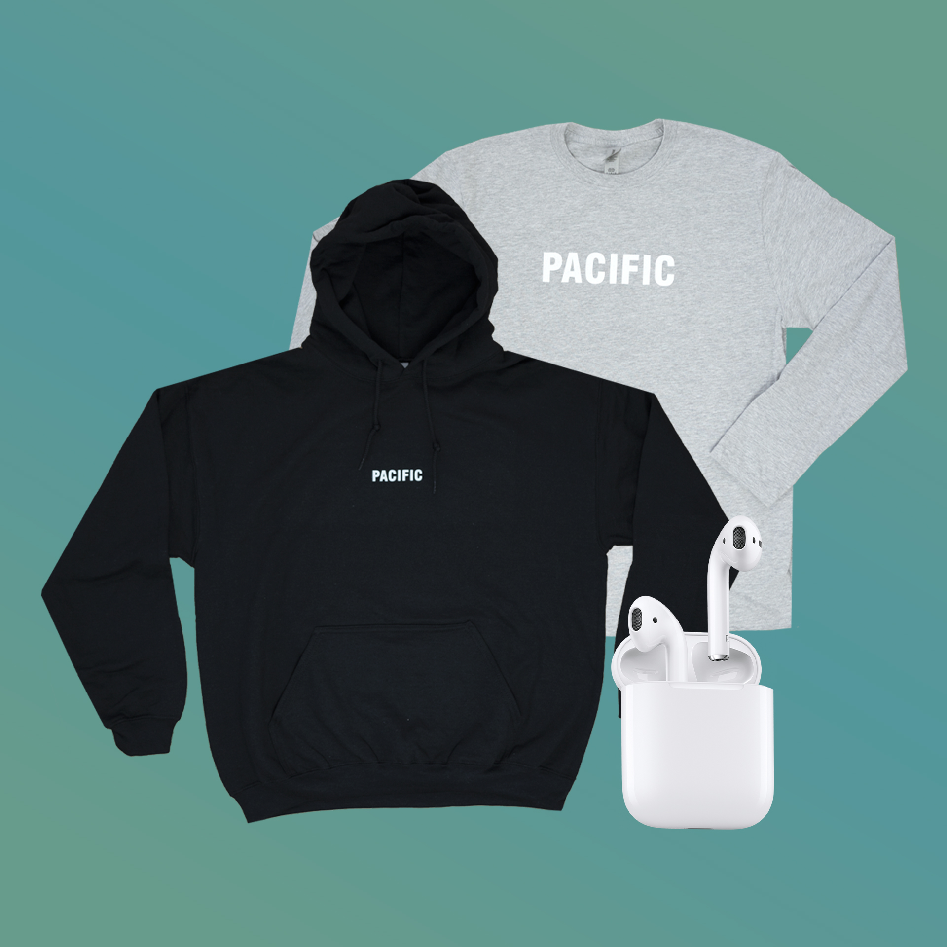 online contests, sweepstakes and giveaways - AIRPOD + MERCH BUNDLE GIVEAWAY
