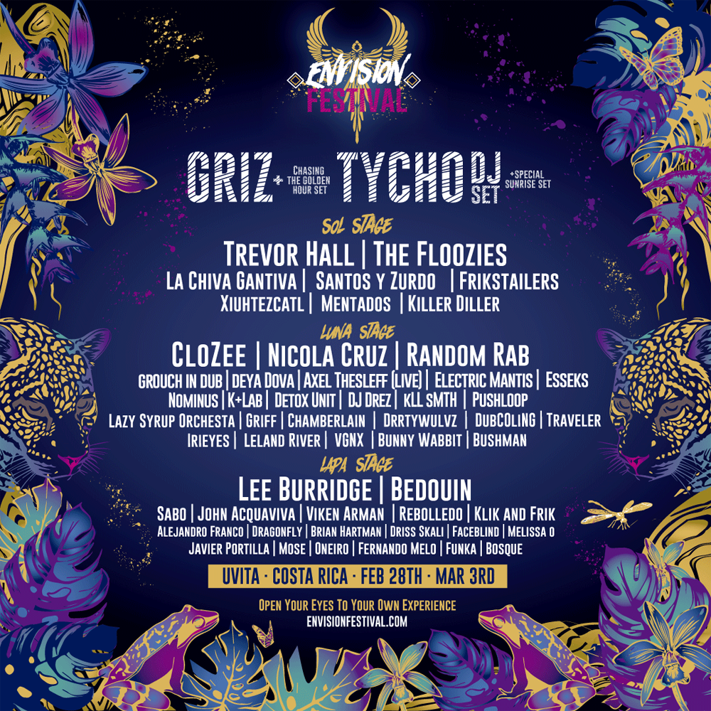 Announcing The 2019 Phase 1 Lineup Vip Giveaway Envision Festival